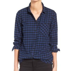 Madewell Slim Boyfriend Shirt Size Medium